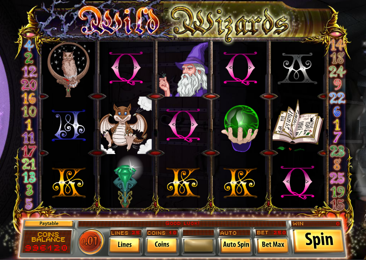 free online slot machine wizards win